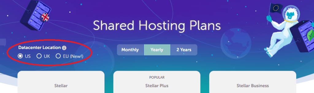 Select Server Location While Buying Namecheap Shared Hosting Plan